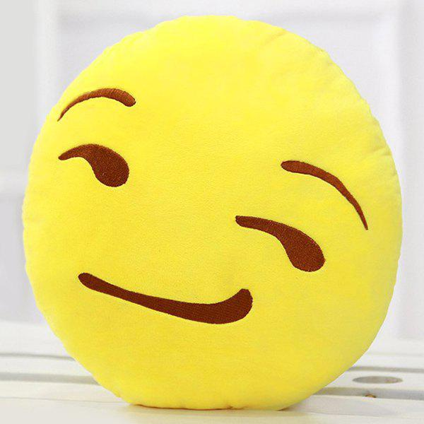 Smile Face Emoticon Pattern Pillow Case - YELLOW