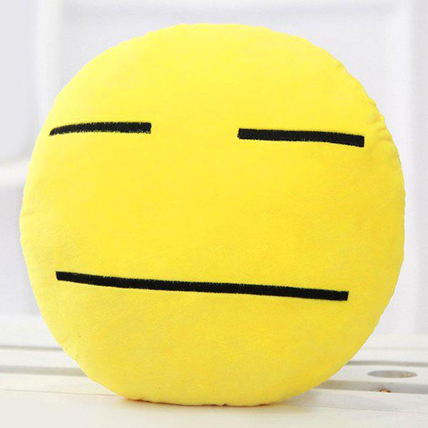Smile Face Emoticon Pattern Pillow Case - DEEP YELLOW