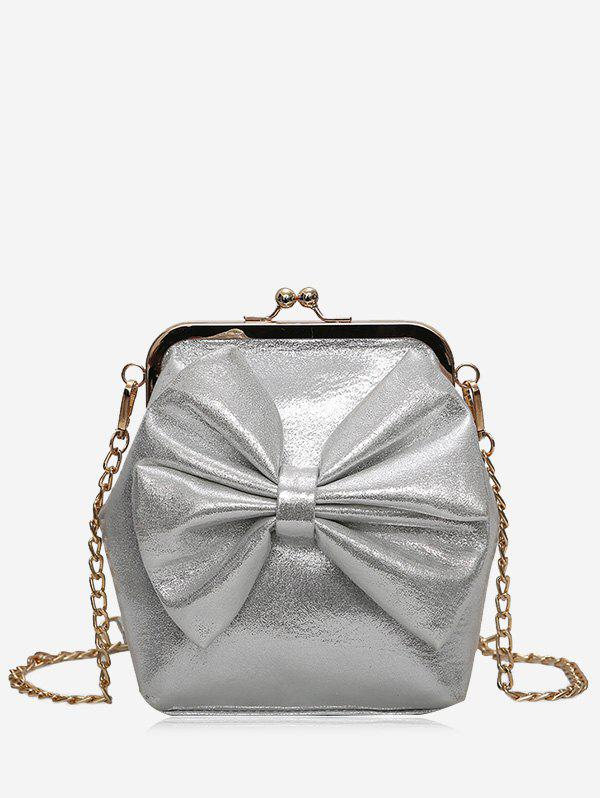 Bow Chain Crossbody Bag - GRAY