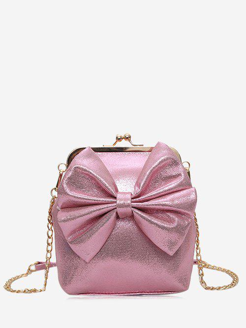 Bow Chain Crossbody Bag - PINK