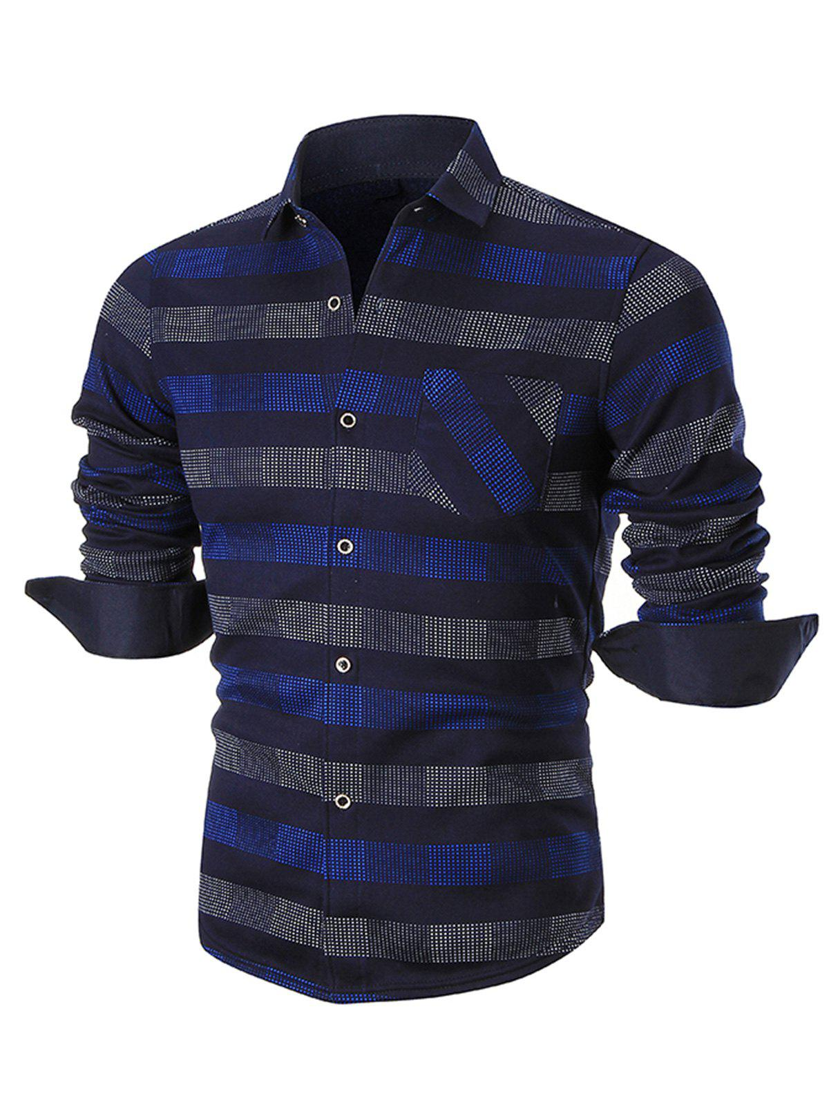 Turn-down Collar Color Block Plaid Shirt картридж profiline pl 106r01486 1487 для xerox wc 3210 3210n 3220dn 4100 стр черный