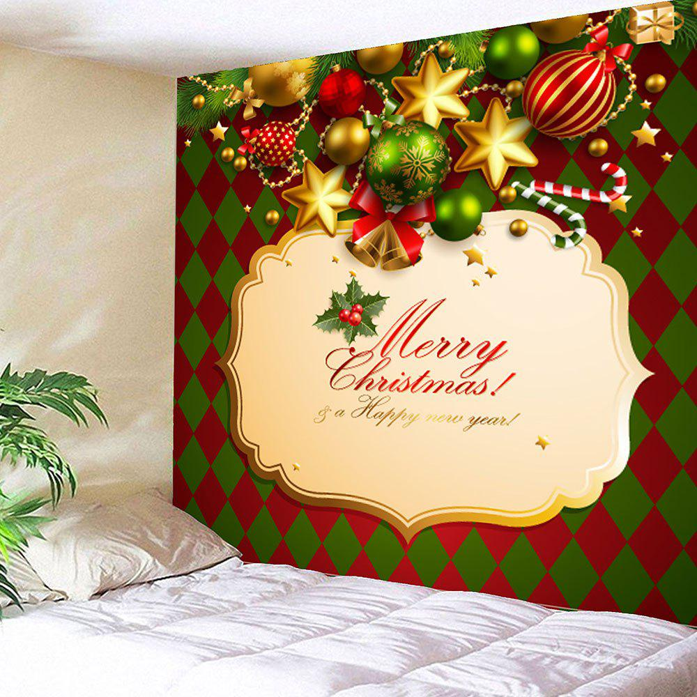 2018 Waterproof Rhombus Pattern Wall Hanging Christmas Tapestry ...