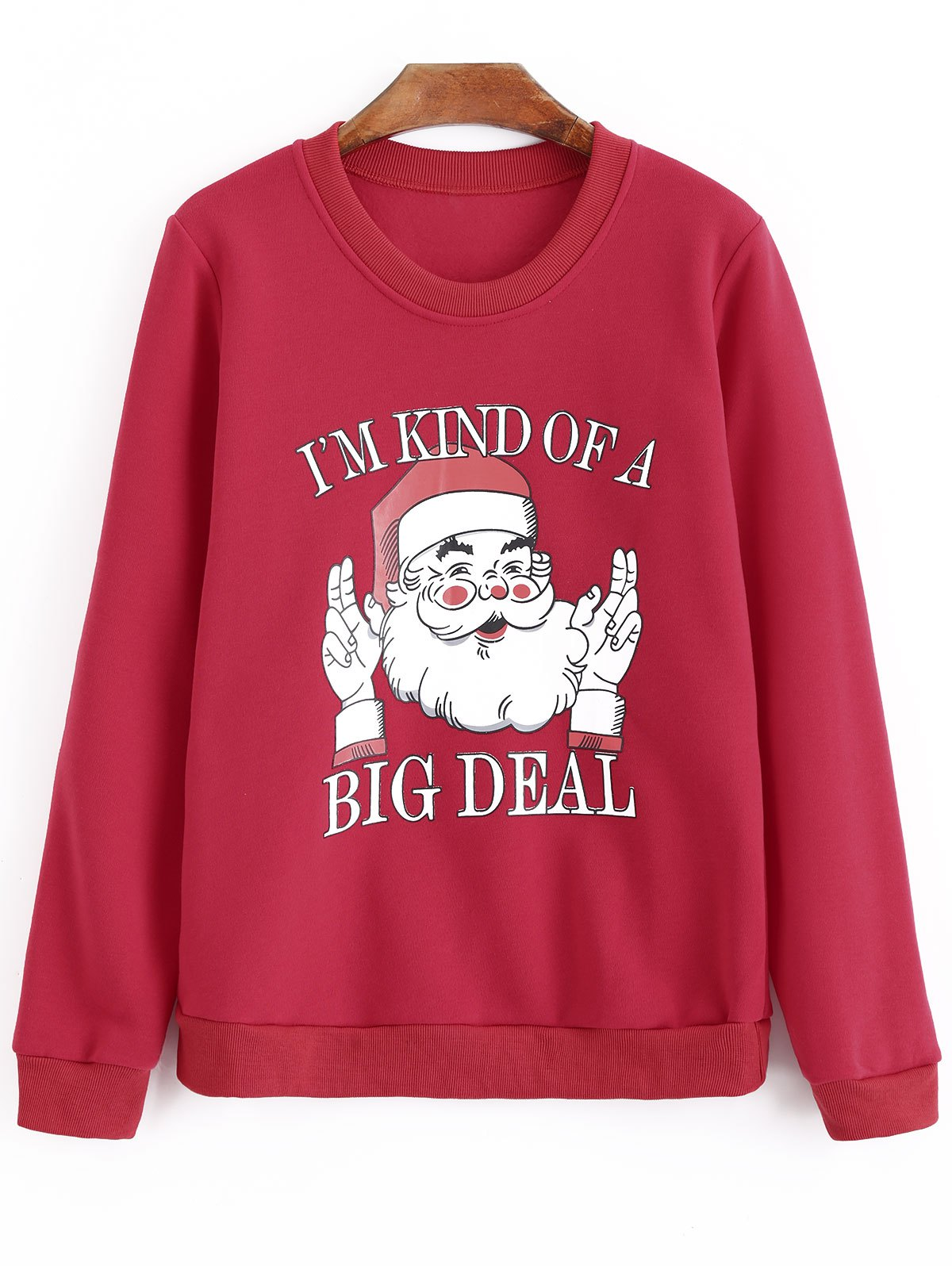 Plus Size Letter Christmas Oversized Sweatshirt - RED 5XL