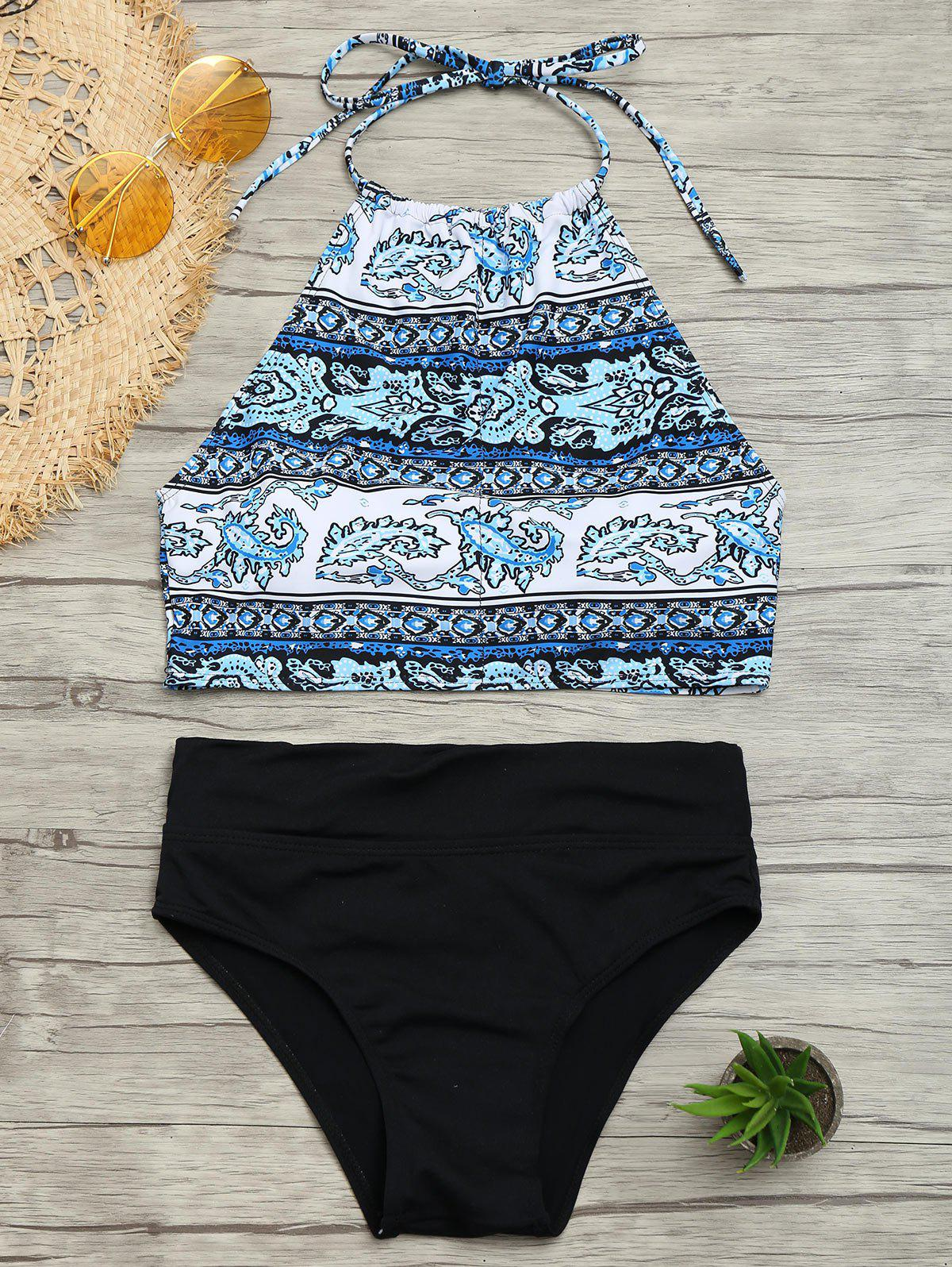 Padded Tribal Print Bikini Set - COLORMIX XL