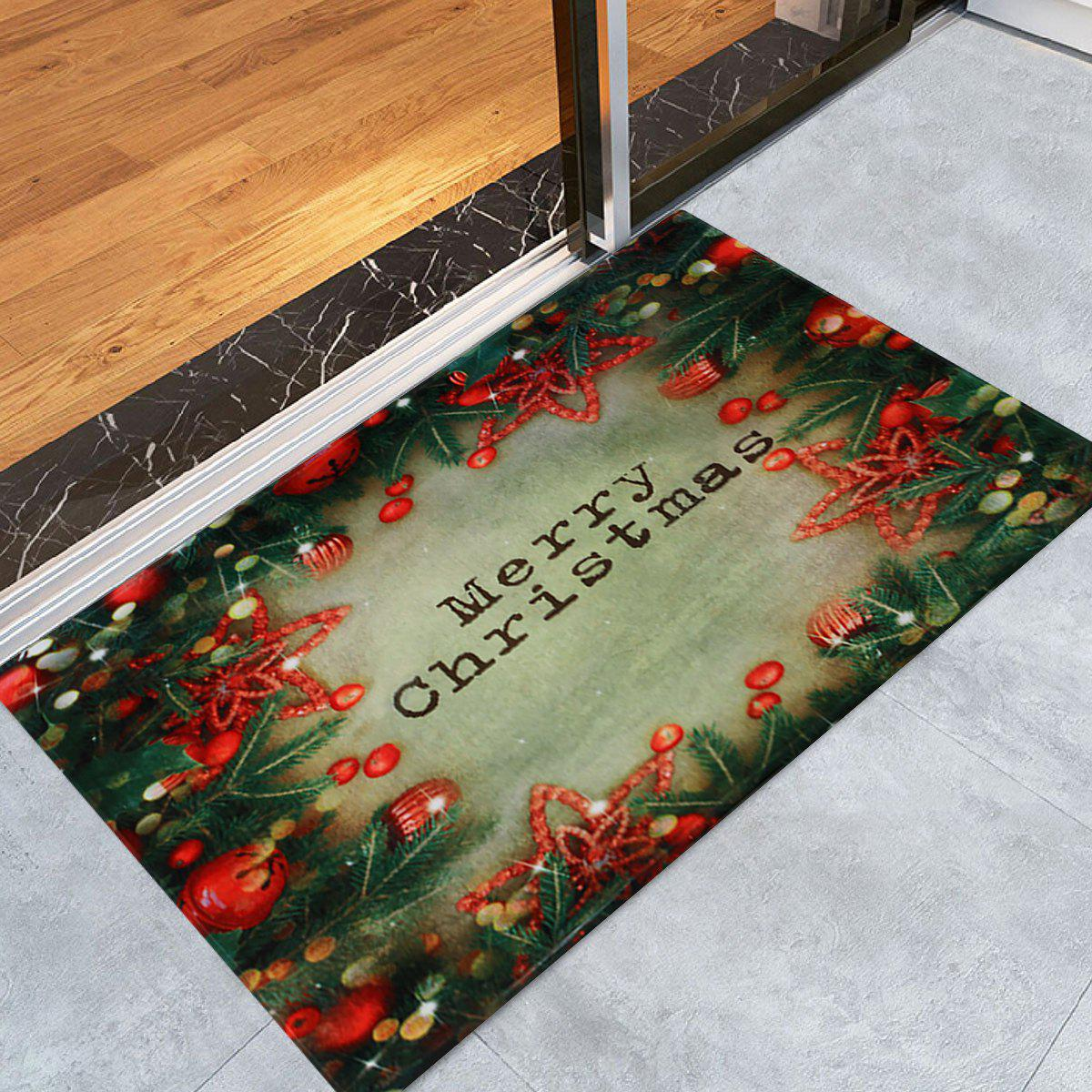 Christmas Tree Decorations Pattern Indoor Outdoor Area Rug - COLORMIX W16 INCH * L24 INCH