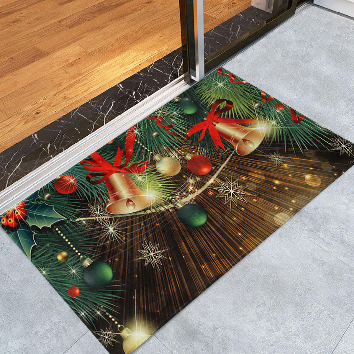 Christmas Bells Baubles Pattern Indoor Outdoor Area Rug - COLORMIX W16 INCH * L24 INCH