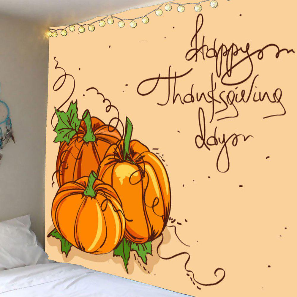 Wall Art Thanks Giving Day Pumpkin Printed Tapestry valentine s day wine glass heart printed wall art tapestry