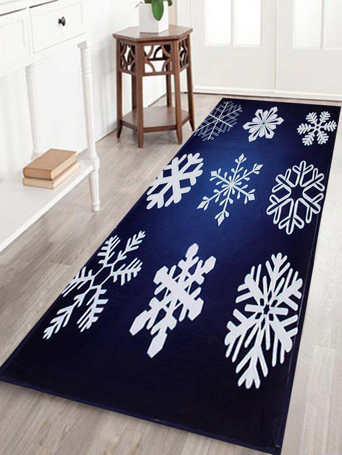 Christmas Snowflake Print Antiskid Coral Fleece Bath Mat лонгслив printio saitama