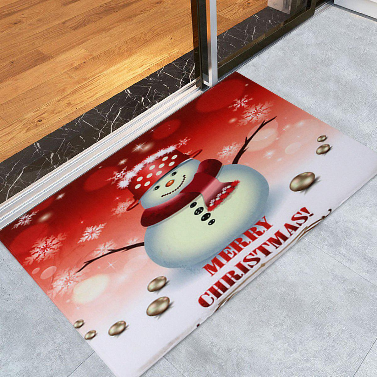 Snowman Merry Christmas Pattern Indoor Outdoor Area Rug - COLORMIX W24 INCH * L35.5 INCH