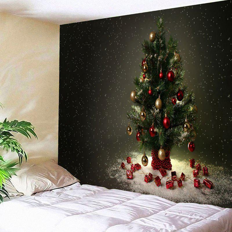 Christmas Tree Pattern Bedroom Wall Hanging Tapestry cka1006 christmas tree snowflake pattern bedroom wall decorative sticker red golden white