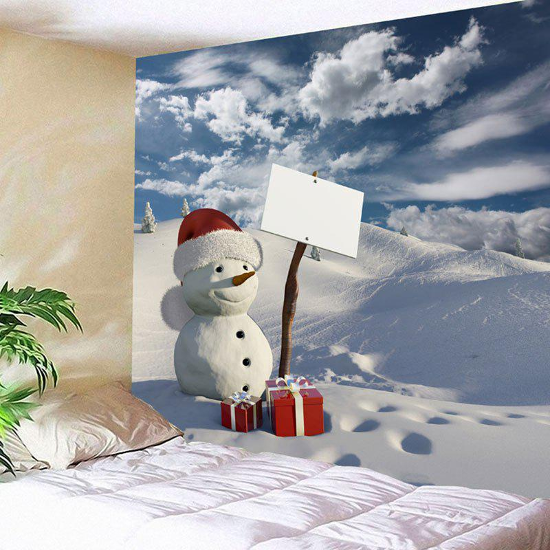 Christmas Gift Snowman Snowscape Print Wall Tapestry christmas gift snowman snowscape print wall tapestry