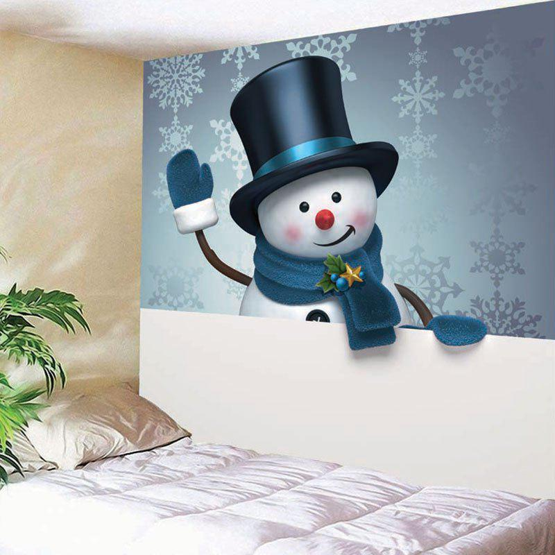 Wall Decor Christmas Snowman Snowflake Print Tapestry