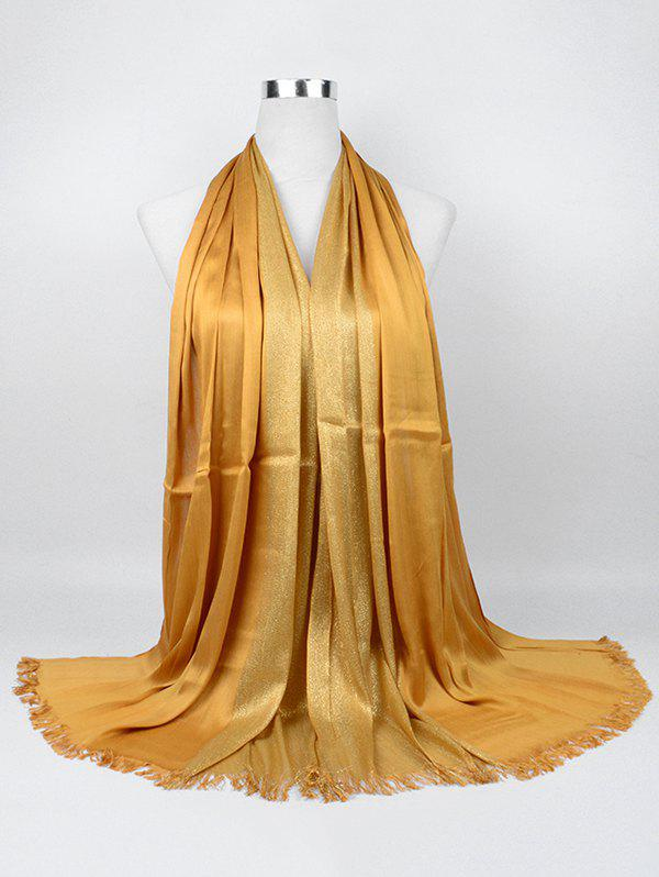 Vintage Stripes Spun Gold Tone Shawl Scarf - GINGER