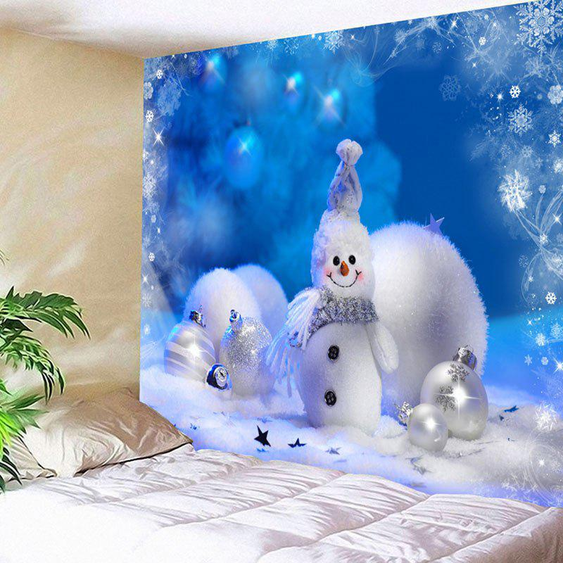 Christmas Snowman Bedroom Wall Hanging Tapestry christmas tree snowman printed wall tapestry