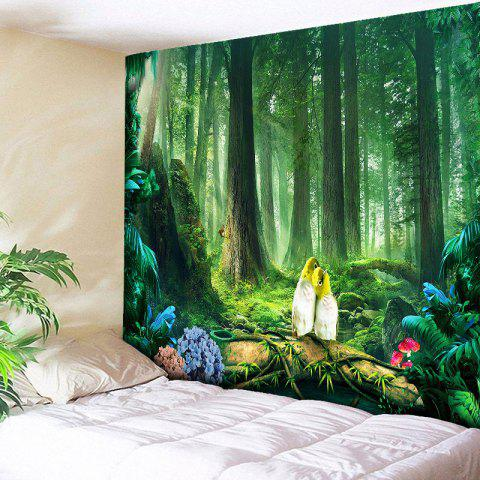 Beautiful Original Forest Printed Wall Art Tapestry - GREEN W59 INCH * L59 INCH