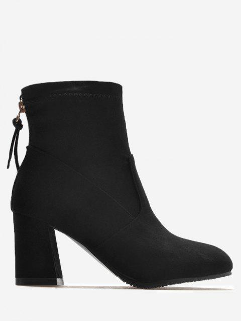 High Heel Pointed Toe Ankle Boots - BLACK 36