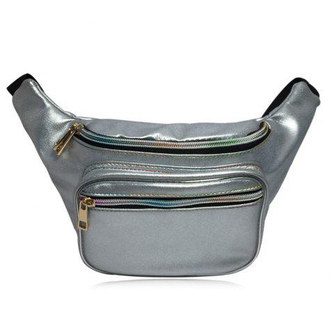 Shining Fanny Pack - SILVER