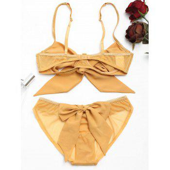 Underwire Bow Tied Bra Set - XL XL