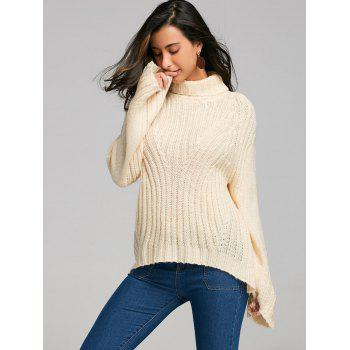 Drop Shoulder Turtleneck Sweater with Stripy - PALOMINO S
