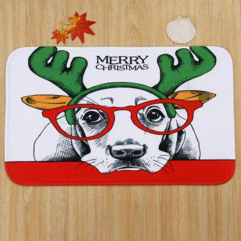 Christmas Dog Pattern 3 Pcs Bathroom Toilet Mat - COLORMIX