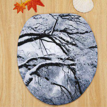 Christmas Snow Tree Pattern 3 Pcs Bathroom Toilet Mat - GRAY