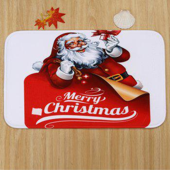Christmas Santa Gifts Pattern 3 Pcs Bathroom Toilet Mat -  RED