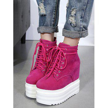 Platform Tie Up Ankle Boots - 36/6 36/6