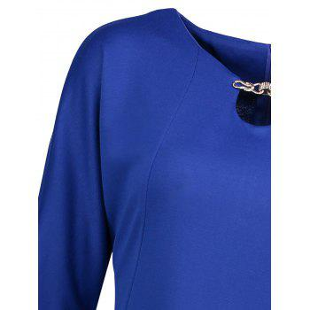 Plus Size Fitted Dress with Pockets - 4XL 4XL
