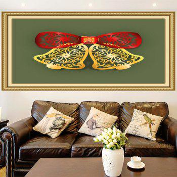 Multifunction Christmas Bells Cut Print Wall Art Painting - RED / GREEN / YELLOW 1PC:24*35 INCH( NO FRAME )