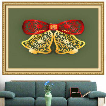 Multifunction Christmas Bells Cut Print Wall Art Painting - 1PC:24*47 INCH( NO FRAME ) 1PC:24*47 INCH( NO FRAME )
