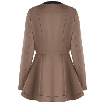 Button Skirted Coat - L L