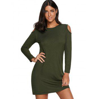 Cold Shoulder Mini T Shirt Dress - XL XL