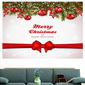 Christmas Balls Bowknot Belt Pattern Multifunction Wall Sticker - 1PC:24*47 INCH( NO FRAME ) 1PC:24*47 INCH( NO FRAME )