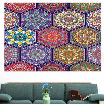 Multifunction Bohemian Graphic Pattern Wall Sticker - COLORFUL 1PC:24*24 INCH( NO FRAME )