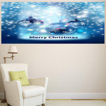 Christmas Snow Balls Pattern Multifunction Decorative Wall Sticker - BLUE BLUE