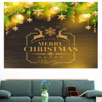 Golden Baubles Pattern Multifunction Decorative Wall Sticker - GOLDEN 1PC:24*24 INCH( NO FRAME )