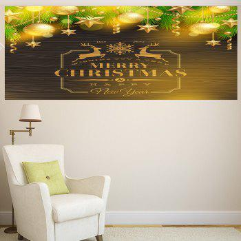 Golden Baubles Pattern Multifunction Decorative Wall Sticker - GOLDEN 1PC:24*35 INCH( NO FRAME )
