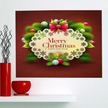 Multifunction Merry Christmas Graphic Pattern Wall Sticker - COLORFUL 1PC:24*35 INCH( NO FRAME )