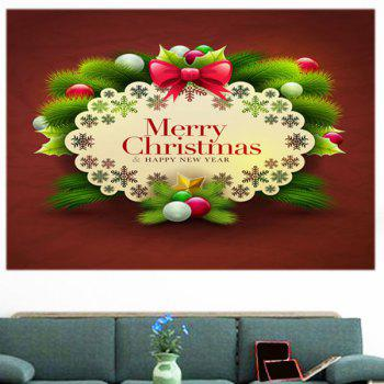 Multifunction Merry Christmas Graphic Pattern Wall Sticker - COLORFUL 1PC:24*47 INCH( NO FRAME )