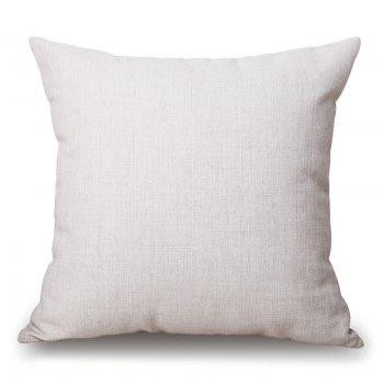 Merry Christmas Print Linen Sofa Pillowcase - OFF WHITE 45*45CM