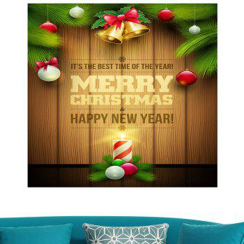 Multifunction Colored Christmas Candle Wall Sticker - 1PC:24*24 INCH( NO FRAME ) 1PC:24*24 INCH( NO FRAME )