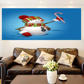Multifunction Christmas Snowmans Pattern Decorative Wall Sticker - 1PC:24*24 INCH( NO FRAME ) 1PC:24*24 INCH( NO FRAME )