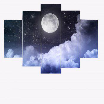 Unframed Moon Starry Sky Canvas Painting - 1PC:8*20,2PCS:8*12,2PCS:8*16 INCH( NO FRAME ) 1PC:8*20,2PCS:8*12,2PCS:8*16 INCH( NO FRAME )