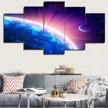 Wall Art Shiny Earth Print Paintings - COLORFUL COLORFUL