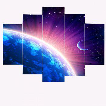 Wall Art Shiny Earth Print Paintings - COLORFUL 1PC:8*20,2PCS:8*12,2PCS:8*16 INCH( NO FRAME )