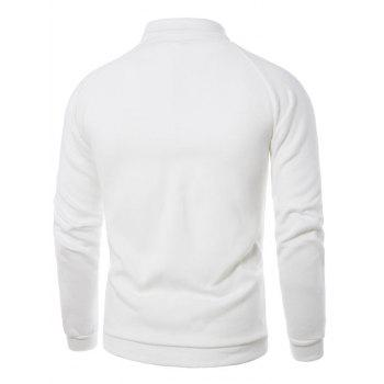 3D Photo Print Fleece Pullover Sweatshirt - XL XL