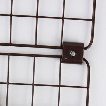Plastic Cube Shape Metal Mesh Connecting Buckles Set -  BROWN