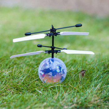 Magic Colorful Flash LED Disco Ball Induction Helicopter Toy - COLORFUL