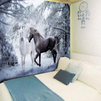 Wall Hanging Two Horses Print Tapestry - COLORMIX W59 INCH * L51 INCH