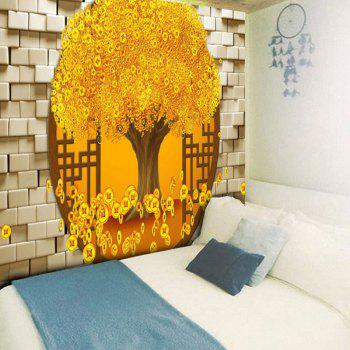 Copper Coin Money Tree Pattern Wall Tapestry - W59 INCH * L51 INCH W59 INCH * L51 INCH